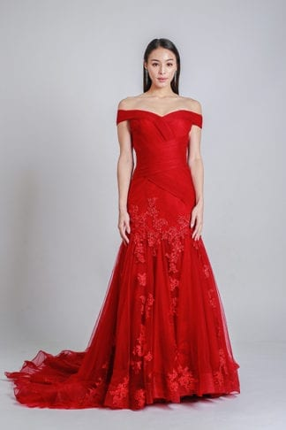 colored gown rental