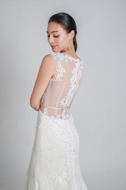 illusion wedding dress online