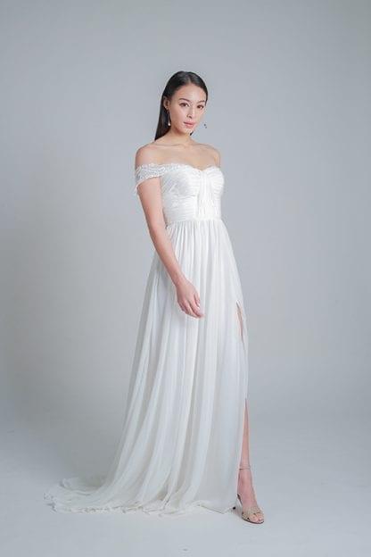 simple wedding dress online rental