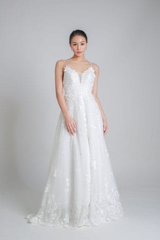simple A-line gown Singapore