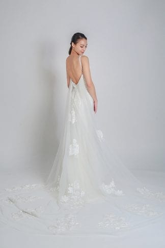 detachable wedding gown