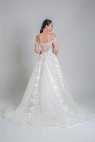 off-shoulder wedding dresses online