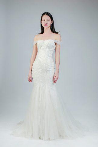 off-the-shoulder wedding dresses--Love, Fioyo