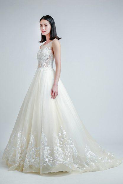 long train wedding gown Singapore -- Love, Fioyo