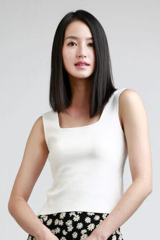 square neck top -- Love, Fioyo
