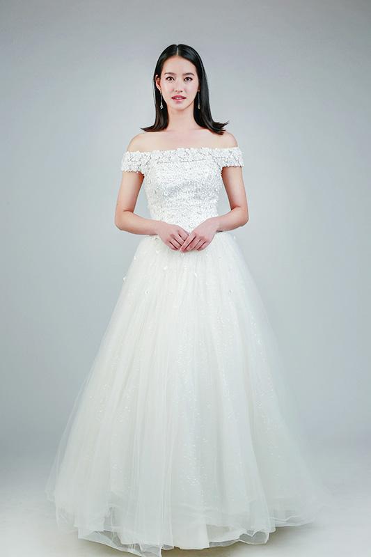 rent off shoulder wedding gown -- Love, Fioyo