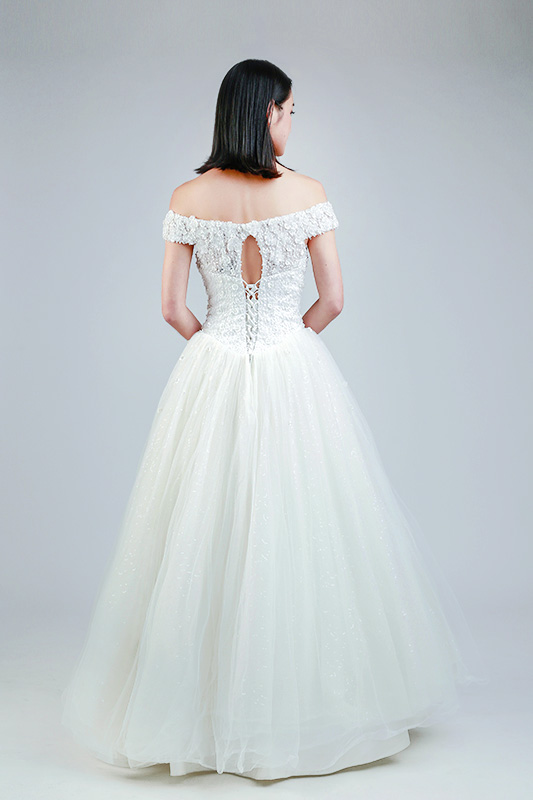 off shoulder wedding gown online Singapore-- Love, Fioyo
