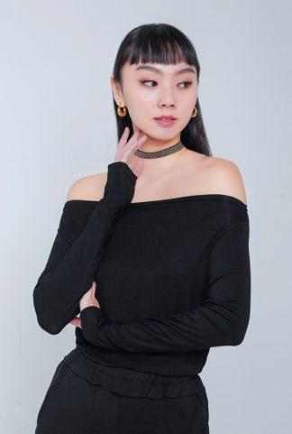 women off-the-shoulder tops -- Love, Fioyo